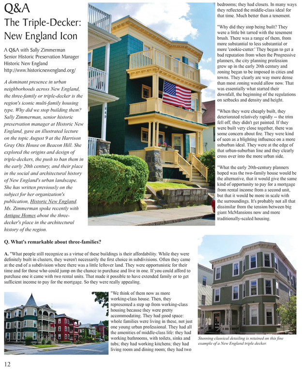 Must Read Feature TripleDecker A New England Icon From Our