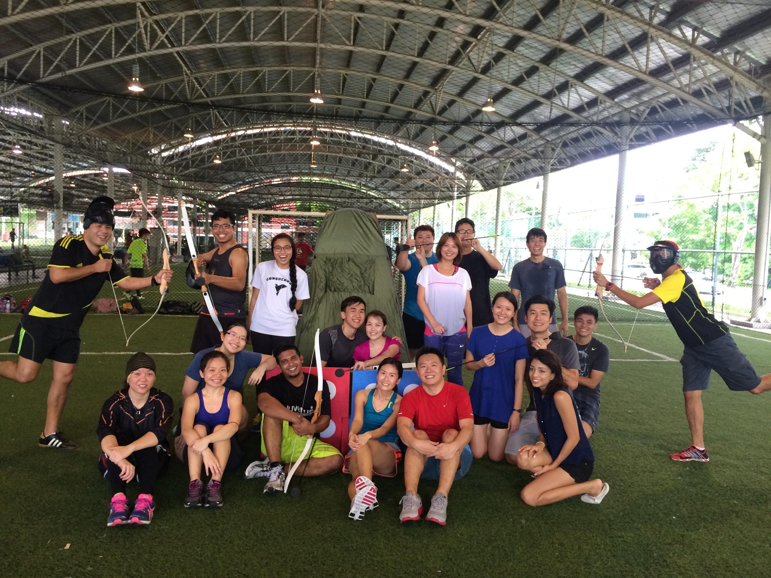 combat archery tag singapore the fun empire blog simin friends adventures combat archery tag