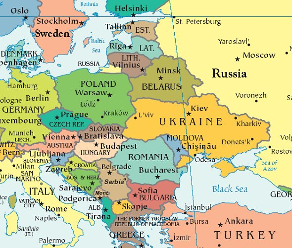 Eastern Europes Duplicitous Tango with Moscow and Brussels – Travel Map Of Eastern Europe