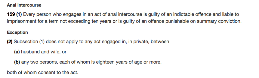 age anal consent in intercourse ontario