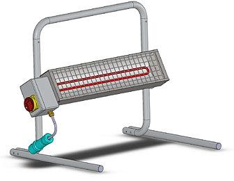 Riscaldatori ad infrarossi da cantiere - Stufa elettrica ad infrarossi ...
