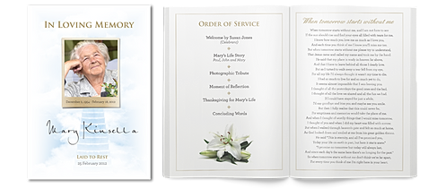 funeral handouts template - murilla community centre miles queensland funeral