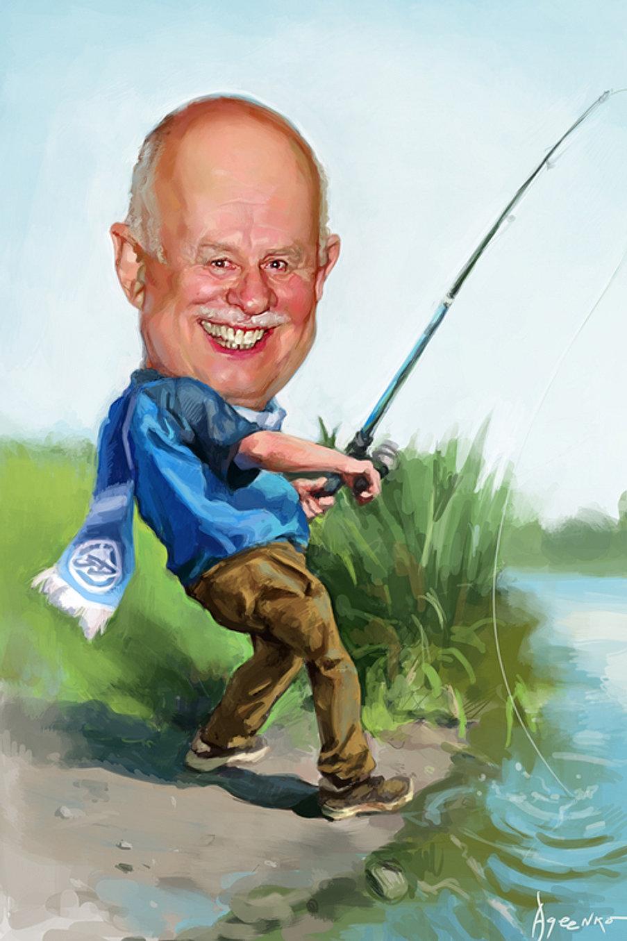 шарж про рыбалку