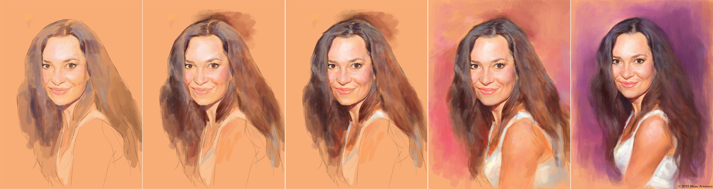 Нарисовать портрет по фотографиям поэтапно
