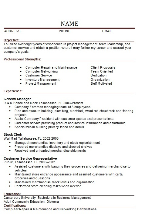 Best Server Resume Example Livecareer Resume Examples For