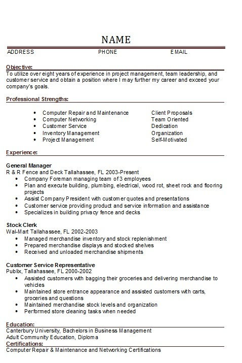 general manager restaurant resume 27042017