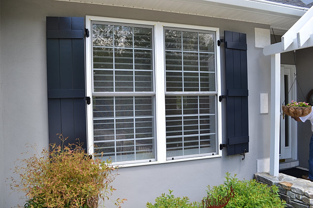 Elite board and batten exterior shutters nc and sc for Cottage style exterior shutters