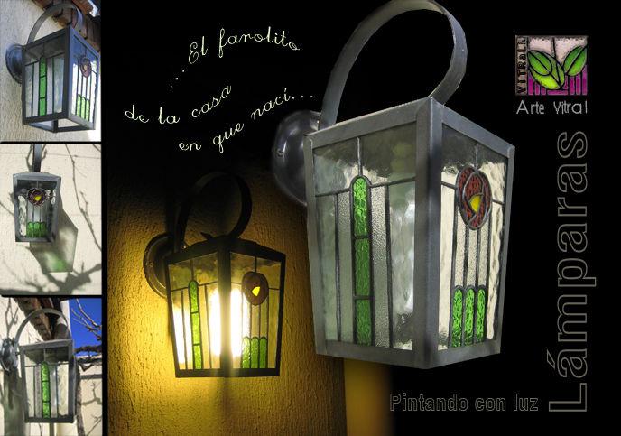 Arte vitral pintando con luz for Faroles para exterior precios