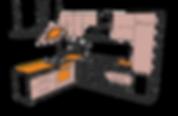 L shape kitchen layout