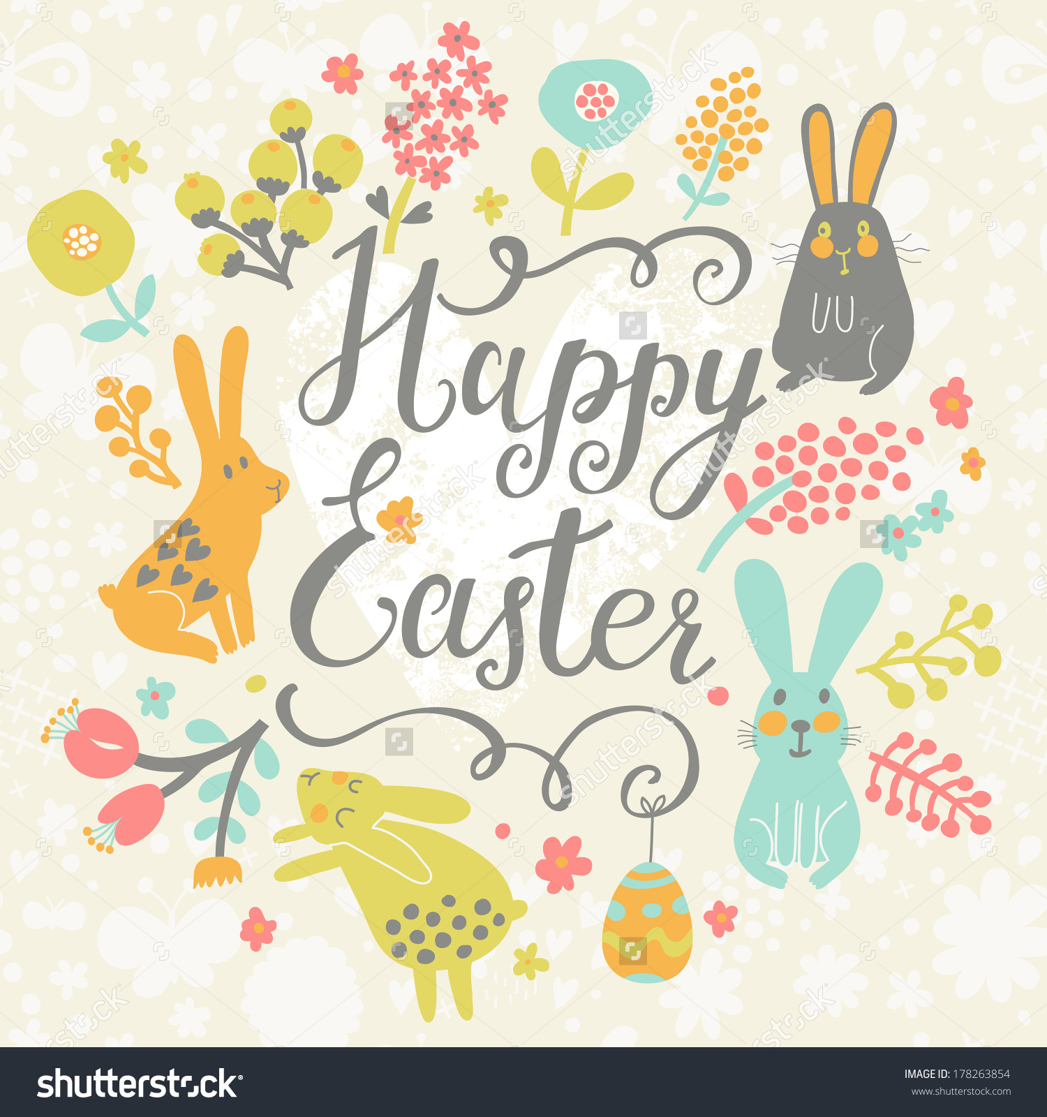 Happy Easter Cute Merry Christmas And New Year 2018