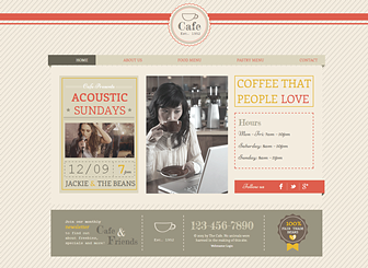 Boho Cafe Template - Featuring a patterned background and chic design, this free template awaits your café, bistro, or restaurant. Create a stylish menu and advertise your opening hours and special events. Design a unique menu and watch your business grow.