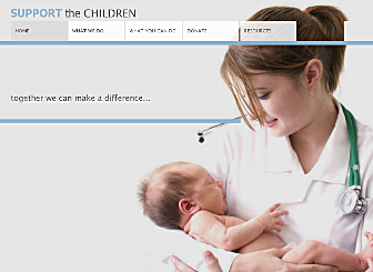 Childrens Charity Template - This professional looking Website is ideal for the New industry to build a strong online presence. With simple navigation, easy to customize images and colors, and plenty of room for explanation of your products and vision,  this Website is waiting to promote your business on the web