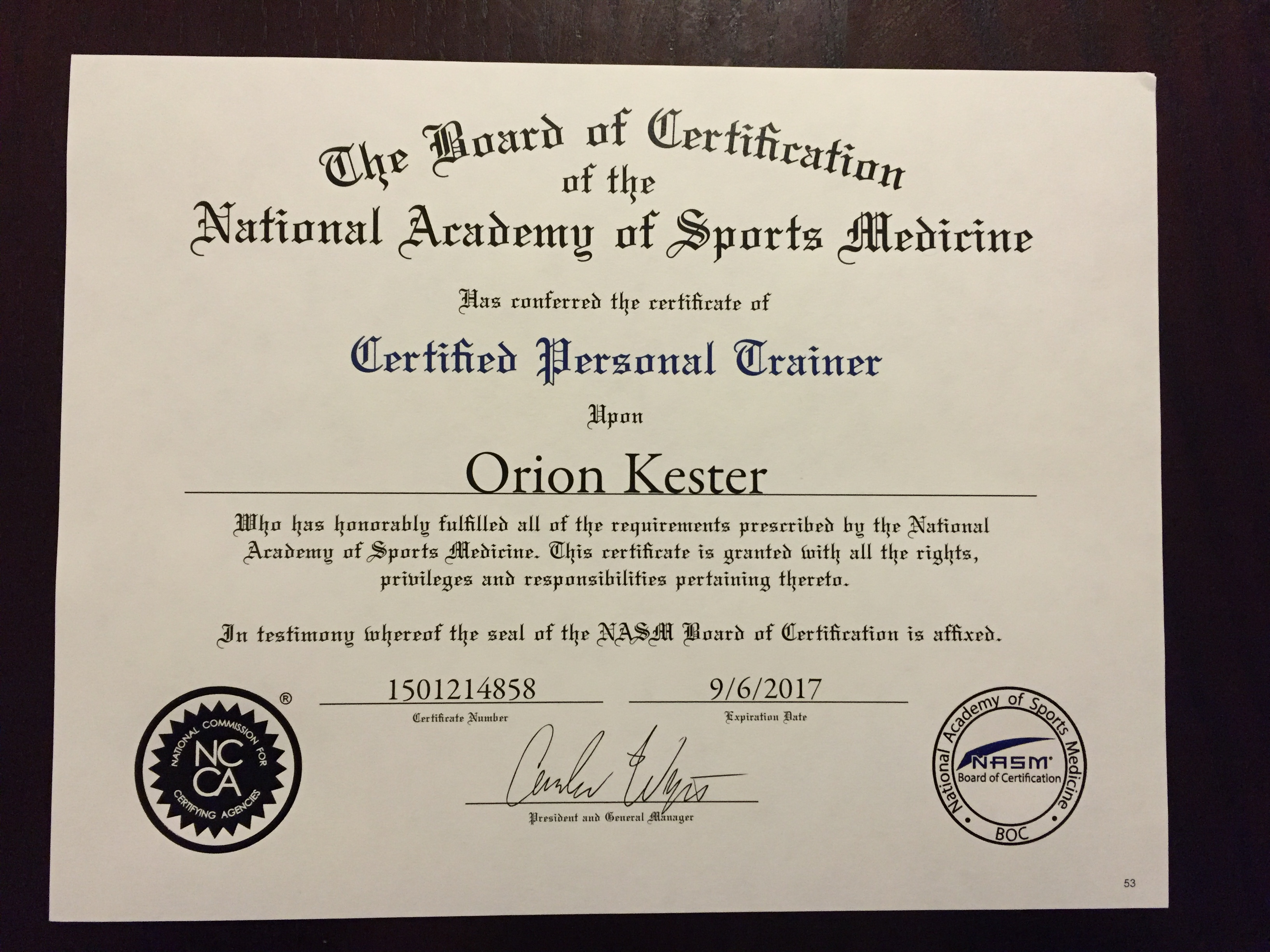 Nasm Certification Certified Personal Trainer Kingwood Fitness