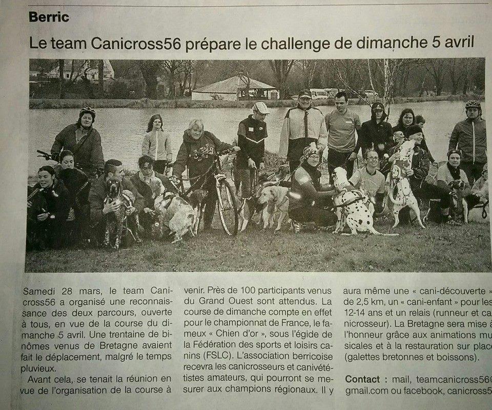 Berric Bretagne Sud Challenge J-4 | Team Canicross 56