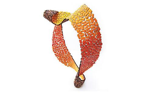 "Julia Toledo neckpiece ""Flame"" 2013"