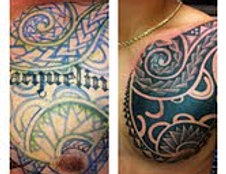 Polynesian cover up chest design