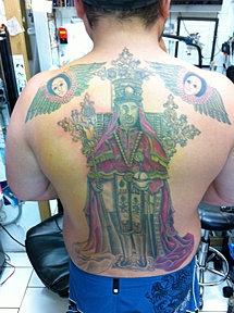 Rasta Fari Tattoo, king Selassie I