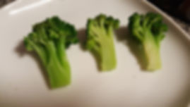 Different phases of cooking broccoli