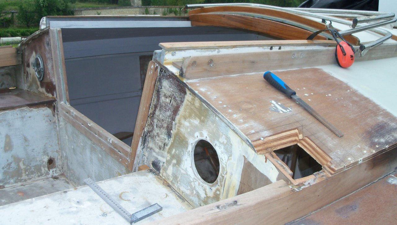 Restauration voilier cognac de 1971 - Contreplaque marine 10mm ...