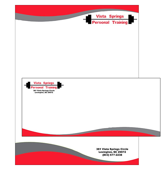 Melk Letterhead For A Personal Trainer