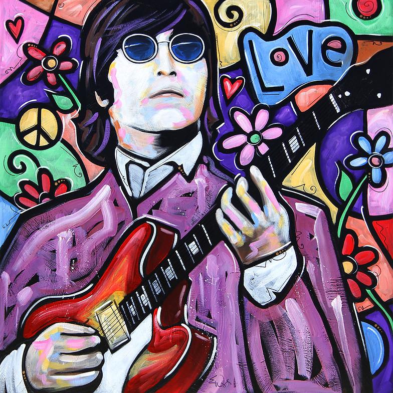 The Beatles Polska: Gigantyczny obraz dla Johna Lennona