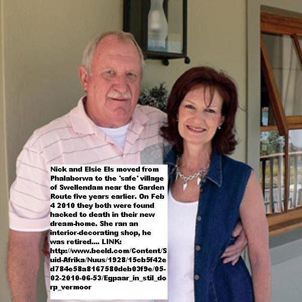 Els Nick and Elsie hacked to death Swellendam Garden Route Feb42010.jpg