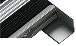 Remate Metalico para melhor acabamento da caixa para embutir o tapete de entrada metalico