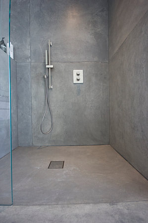 Concrete bathroom for Polished concrete floor bathroom