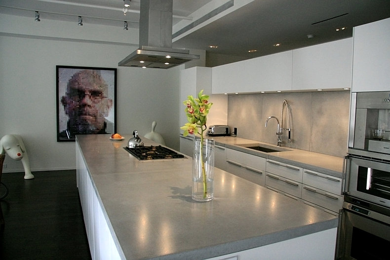 Polished Concrete Countertops.