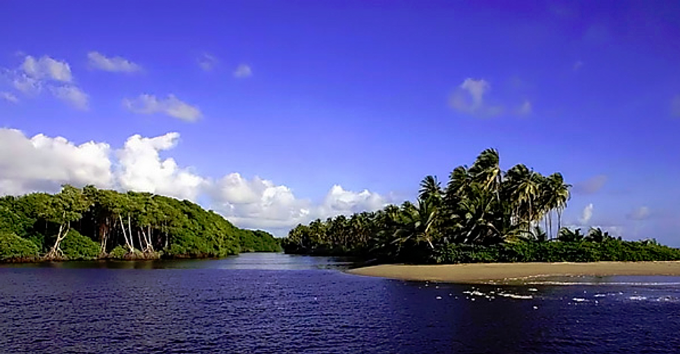 Ortoire River meets the Mayaro Beach