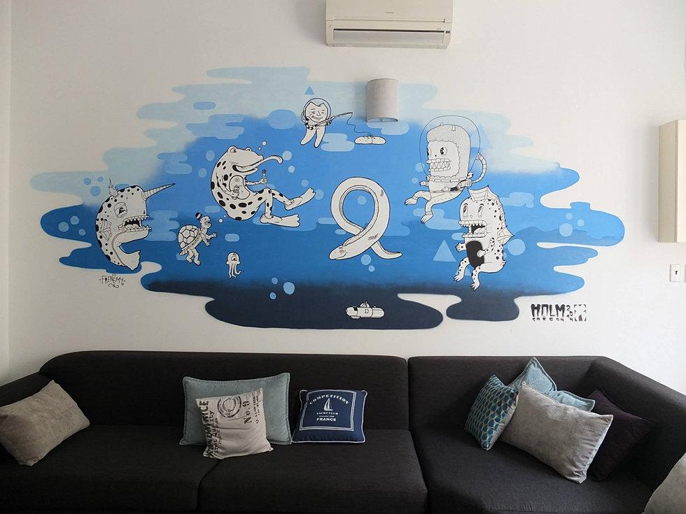 mural commission bca living room furniture