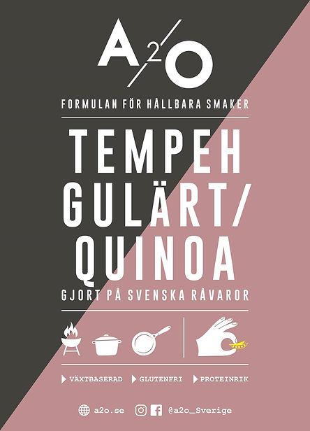 Tempeh på gulärta och quinoa