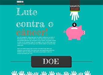 Arrecadação de Fundos Template - Leve sua causa para o mundo online como este template inspirador e divertido de página única. Personalize o texto e adicione fotos para relatar  a história completa da sua instituição de caridade ou ONG. Comece já para conseguir arrecadar fundos!
