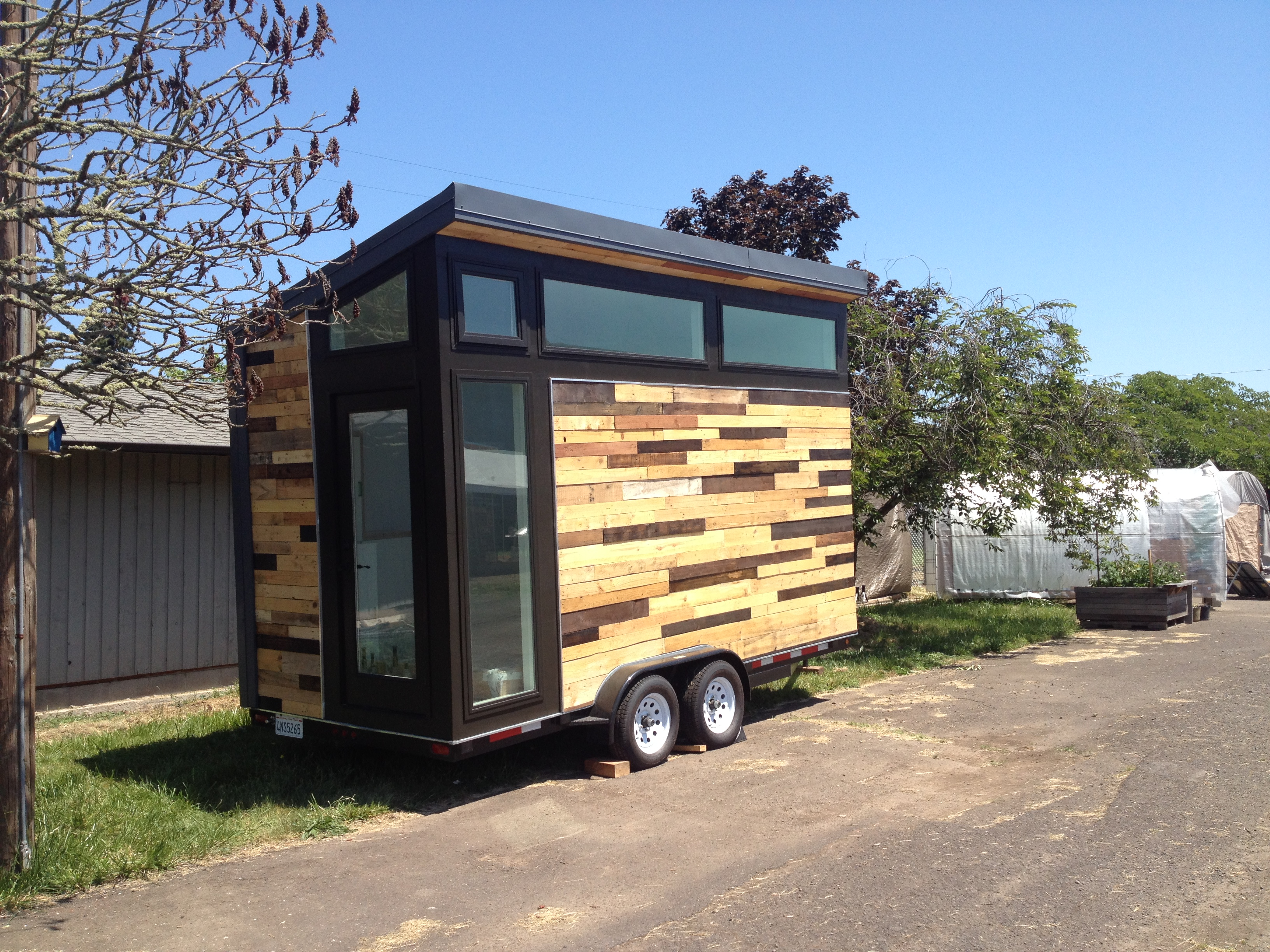 Our newest tiny house built by high school students in