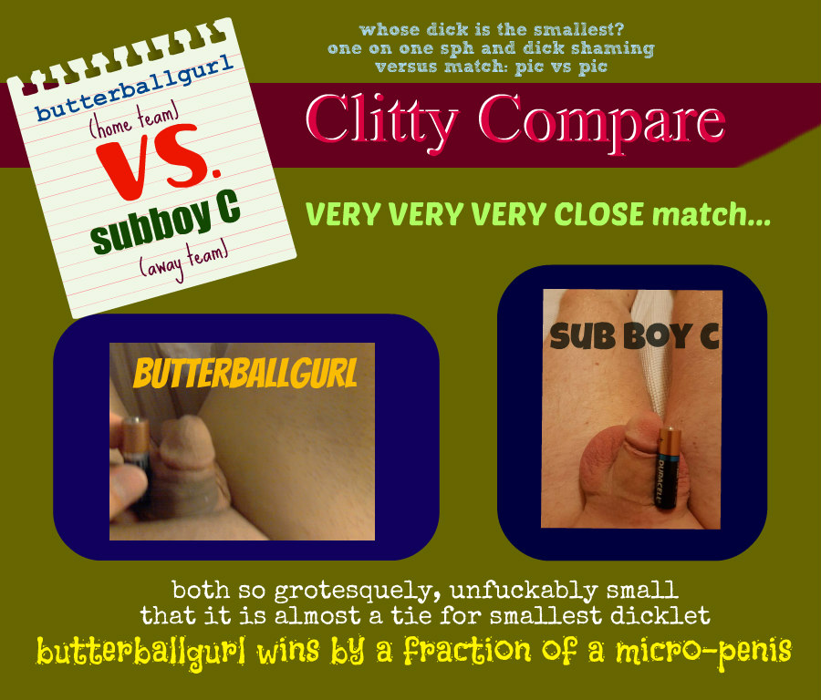 Clitty Compare butterballgurl vs sub boy c
