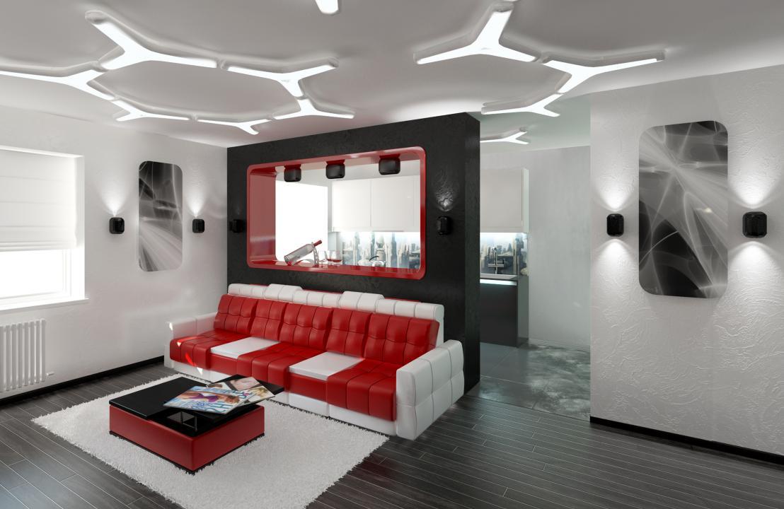 Фото и идеи зонирования интерьера однокомнатной квартиры