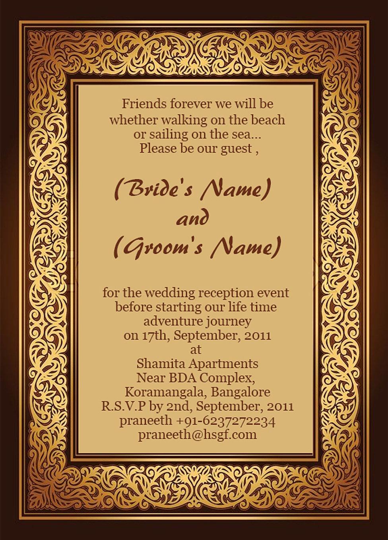 Wedding Reception Invitation Wording Gangcraft