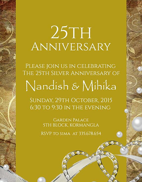 Free wedding anniversary invitation wordings india join stopboris Gallery