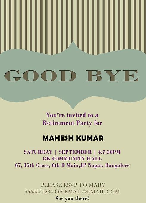 Farewell Party Invitation Template aqua paper plane farewell