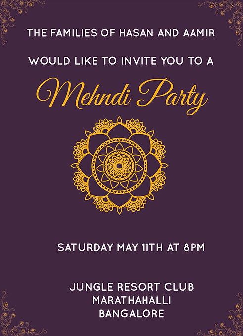 Mehndi Party Invitation Wording : Free mehndi invitation wordings online inviteonline