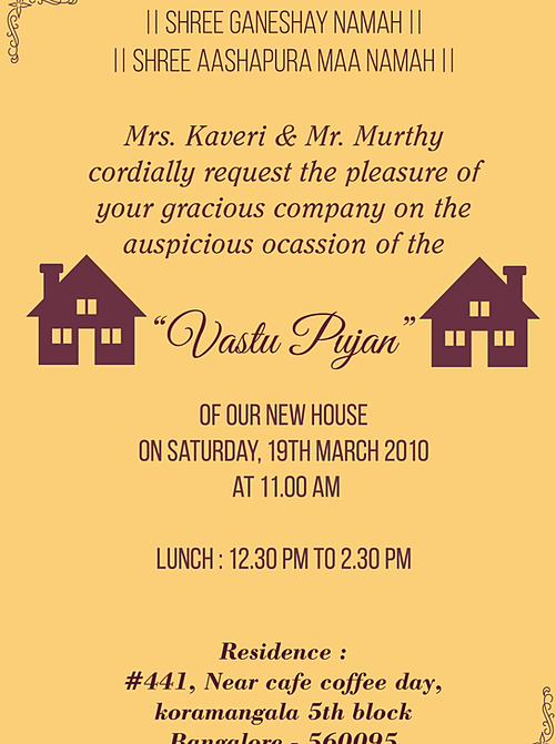 Housewarming Invitations Indian Wordings