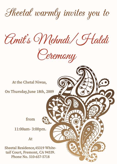 Free Mehndi Invitation Wordings Online Inviteonlinecoin