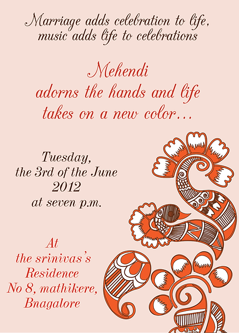 Free Mehndi Invitation Wordings Online Inviteonline Co In