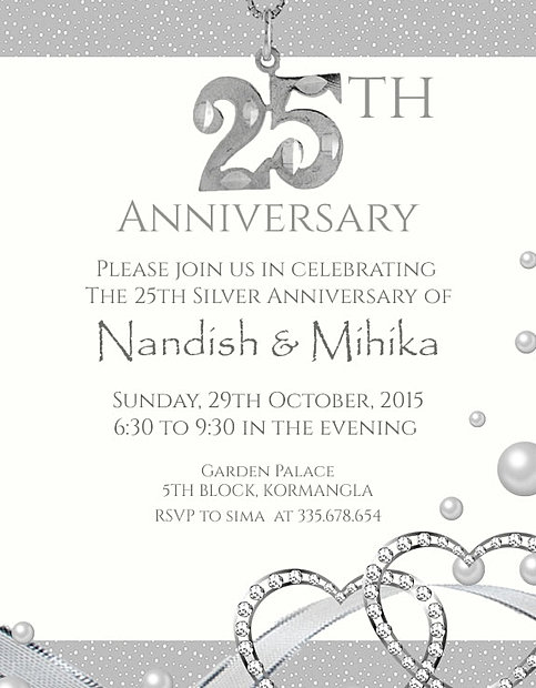 Free wedding anniversary invitation wordings india because you have shared stopboris Images