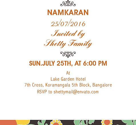 Free Namakaran Invitation Wordings Online – Naming Ceremony Invitation Template