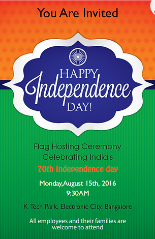 Indian Independence Day Invitation Wordings