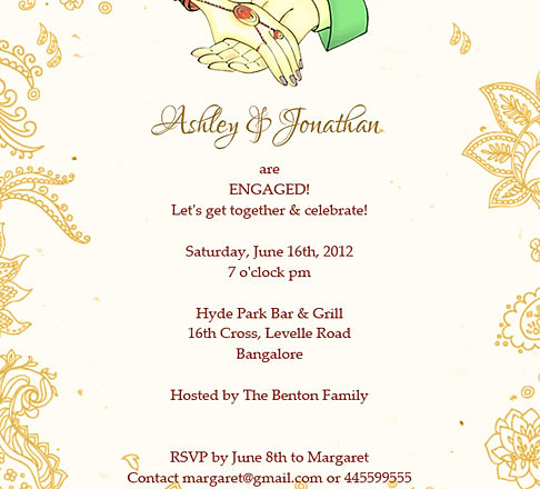 Indian EngagmentBetrothal Ceremony Invitation Wordings – Engagement Invitation Format