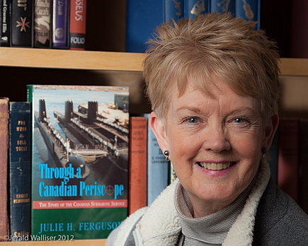 Author, Julie H. Ferguson with 1st edition.  Photo: Jerald Walliser Photography 2012