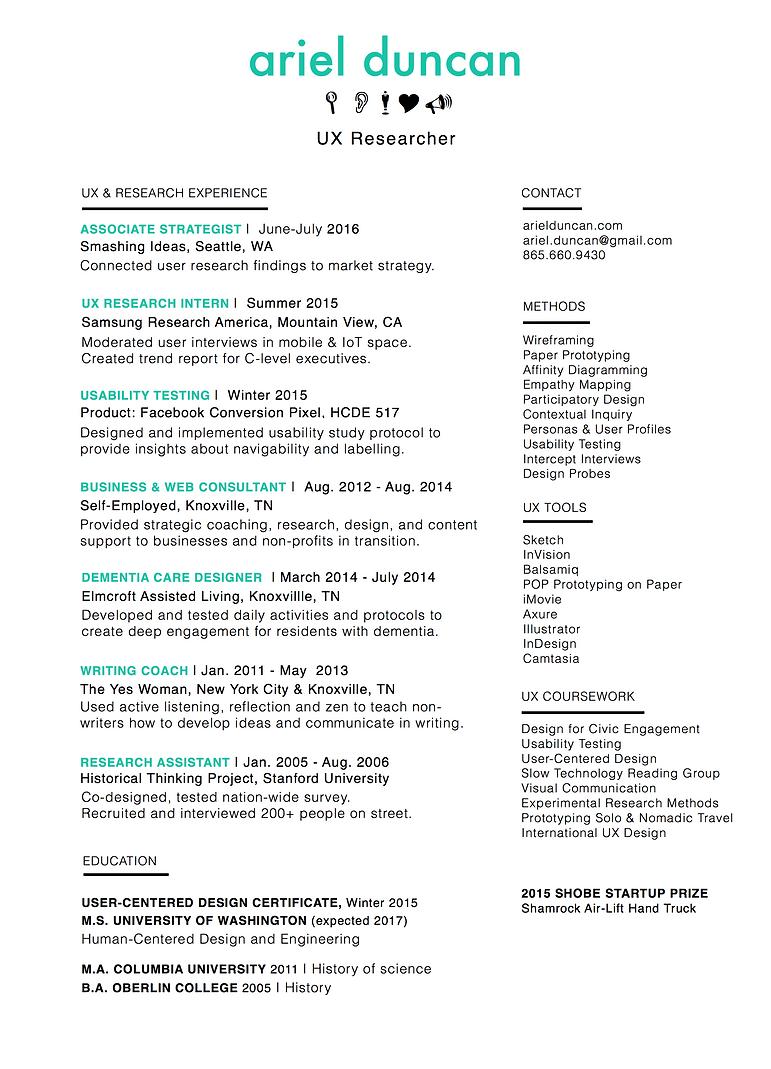 ariel duncan resume