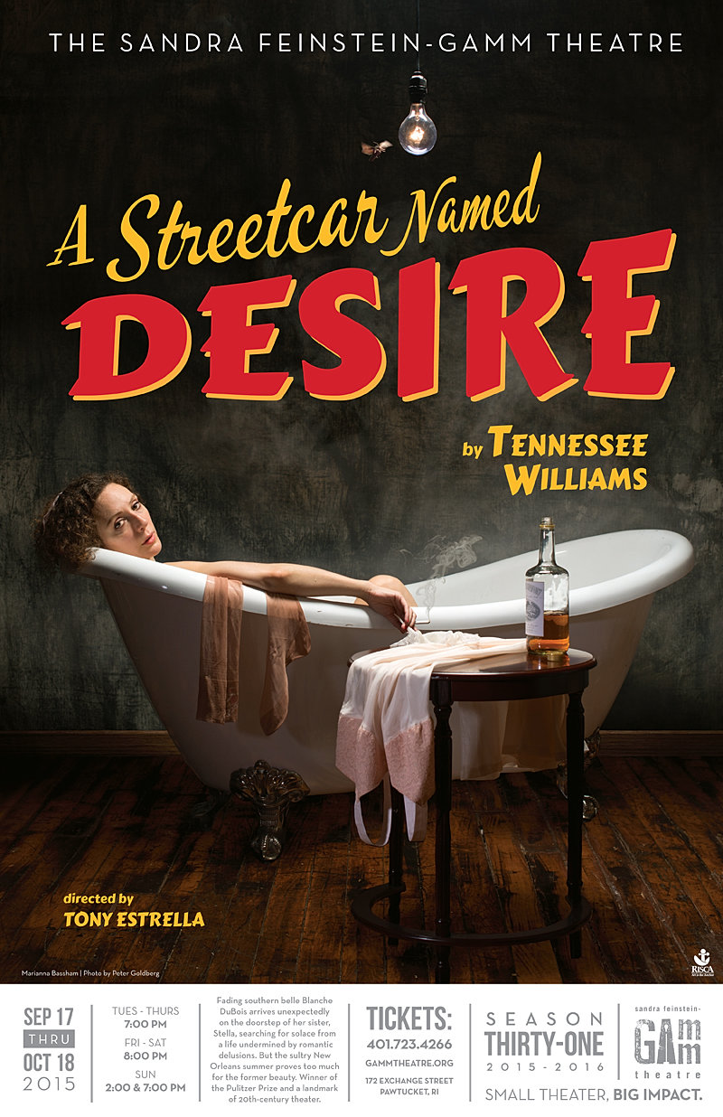 a streetcar d desire the gamm theatre street car poster